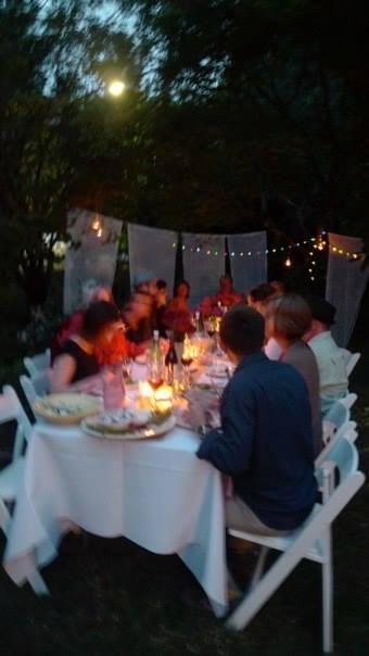 Last  year's birthday garden party.